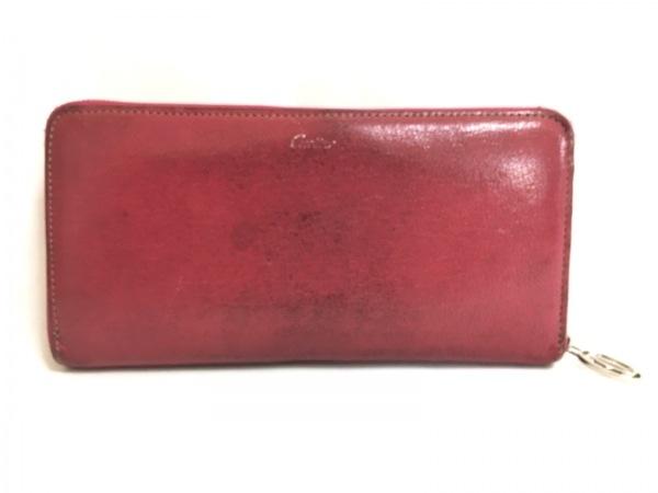 Cartier(カルティエ) 長財布 レ・マスト - ピンク ラウンドファスナー レザー