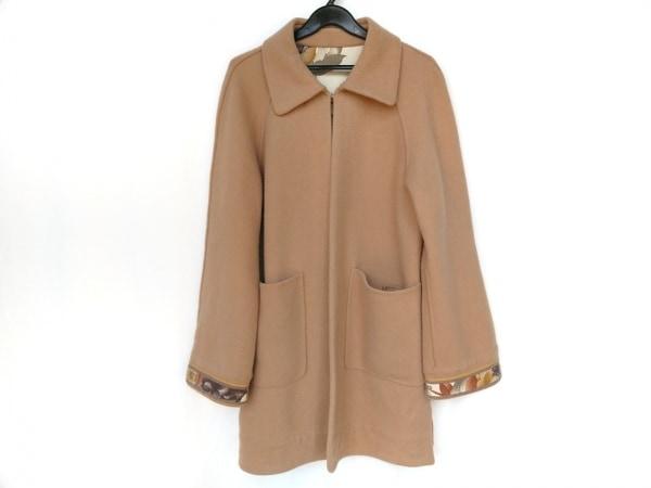LEONARD(レオナール) コート サイズ9 M レディース美品  ライトブラウン 冬物