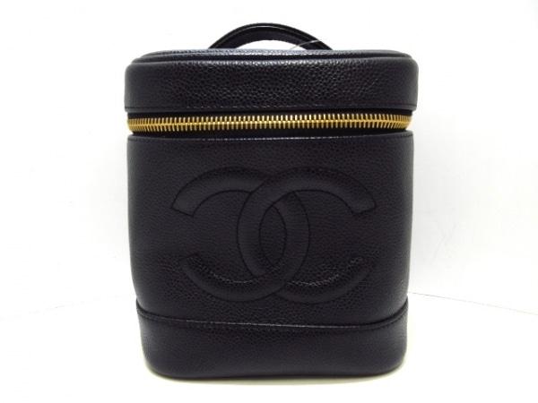 CHANEL(シャネル) バニティバッグ - A01998 黒 ゴールド金具 キャビアスキン