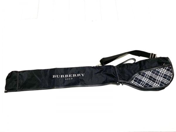 BURBERRYGOLF(バーバリーゴルフ) バッグ美品  黒×白 ゴルフクラブケース/チェック柄