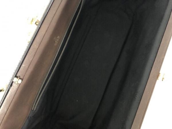 madler(マドラー) ハンドバッグ ダークブラウン レザー×金属素材