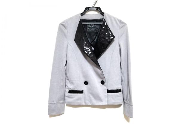 MURUA(ムルーア) ジャケット サイズ2 M メンズ ライトグレー×黒 スパンコール