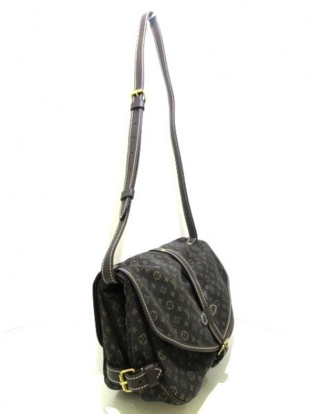 ルイヴィトン ショルダーバッグ モノグラムミニラン美品  ソミュール M95227 エベヌ