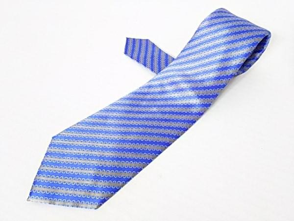 Brioni(ブリオーニ) ネクタイ メンズ美品  ブルー×カーキ