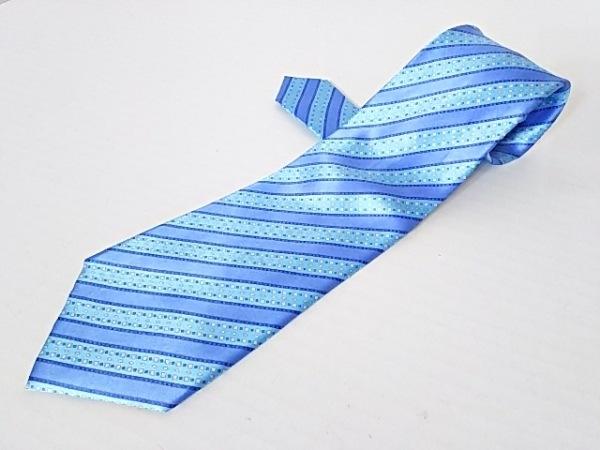 STEFANORICCI(ステファノリッチ) ネクタイ メンズ ブルー×ライトブルー×アイボリー