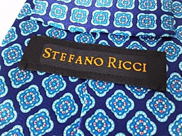 STEFANORICCI(ステファノリッチ) ネクタイ メンズ美品  ネイビー×ライトブルー