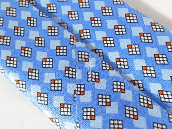 Brioni(ブリオーニ) ネクタイ メンズ ライトブルー×アイボリー×オレンジ