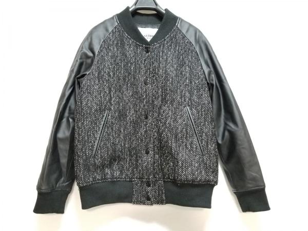 IENA SLOBE(イエナ スローブ) ブルゾン サイズF レディース 黒×白 袖フェイクレザー