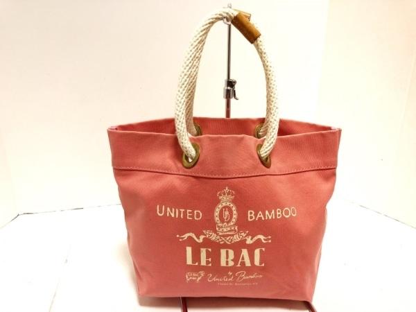 united bamboo(ユナイテッドバンブー) トートバッグ美品  ピンク×白 キャンバス