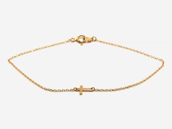 AURORA GRAN(オーロラグラン) ブレスレット美品  K18YG クロス