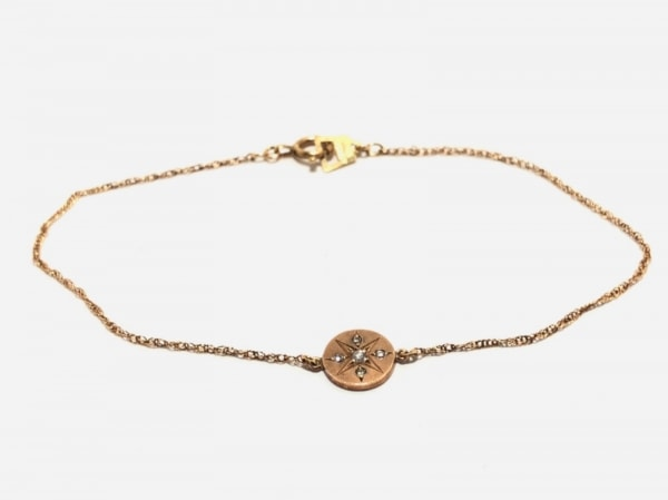 AURORA GRAN(オーロラグラン) ブレスレット K10YG×ダイヤモンド