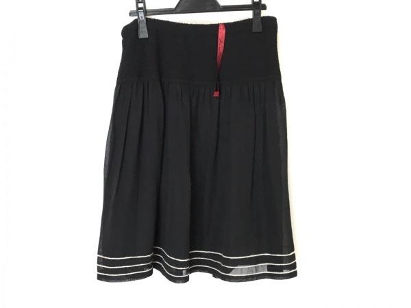 NOKO OHNO(ノコオーノ) スカート サイズ42 L レディース美品  黒×ベージュ プリーツ
