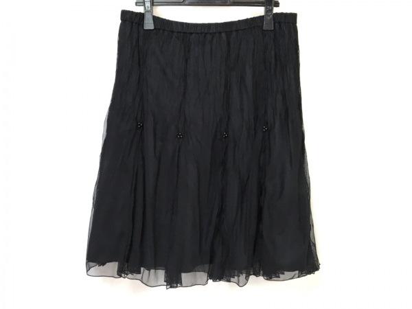 NOKO OHNO(ノコオーノ) スカート レディース美品  黒 メッシュ