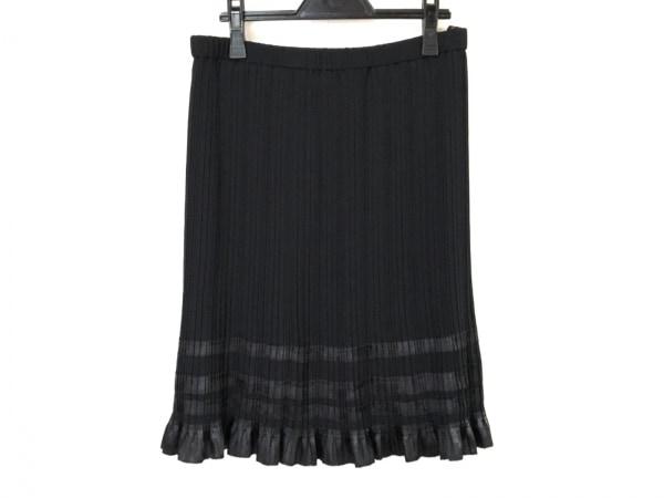 NOKO OHNO(ノコオーノ) スカート レディース美品  黒 プリーツ