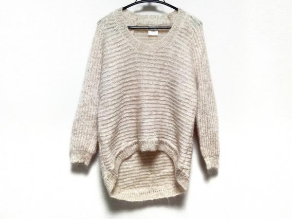 aA(アルファエー) 長袖セーター サイズ38 M レディース美品  ベージュ