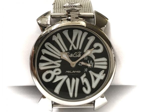 GAGA MILANO(ガガミラノ) 腕時計 マヌアーレ46 - メンズ 黒