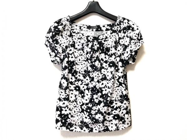 MADAM JOCONDE(マダムジョコンダ) 半袖カットソー サイズ40 M レディース 白×黒 花柄