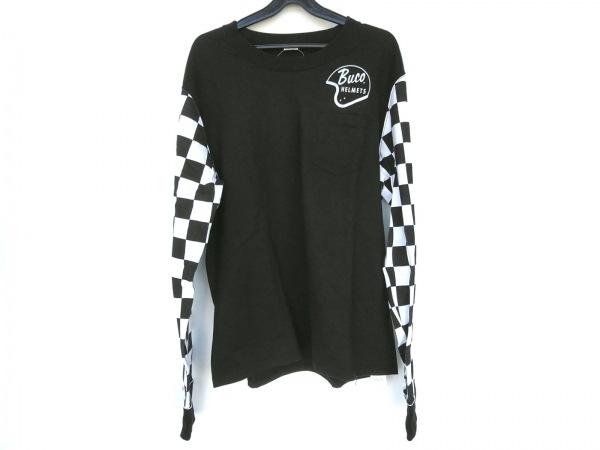 BUCO(ブコ) 長袖Tシャツ サイズL メンズ 黒×白