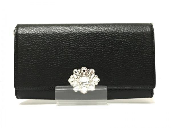 サマンサタバサデラックス 財布美品  黒 ショルダーウォレット 合皮