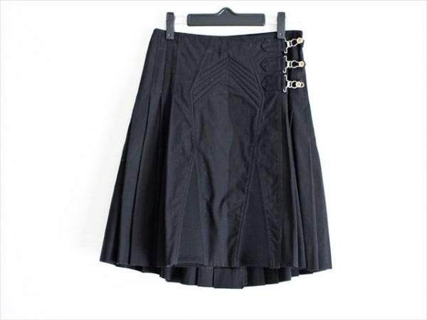 JeanPaulGAULTIER(ゴルチエ) 巻きスカート サイズ40 M レディース美品  - - 黒 ひざ丈
