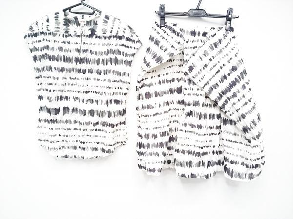 ケンゾー スカートセットアップ サイズ38 M レディース新品同様  白×黒×グレー