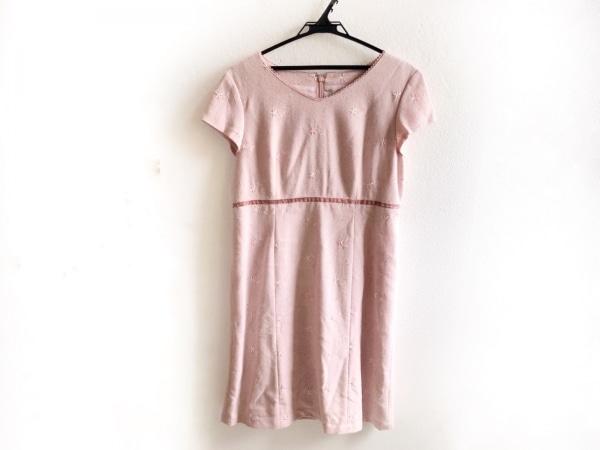 Aylesbury(アリスバーリー) ワンピース サイズL レディース美品  ピンク 花柄/刺繍