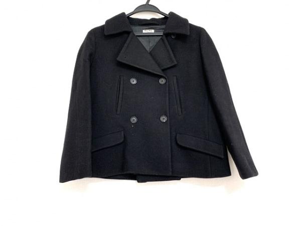 miumiu(ミュウミュウ) Pコート サイズ40 M レディース美品  黒 冬物