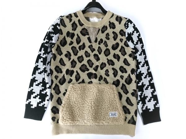 ARMED(アームド) 長袖セーター サイズ1 S レディース美品  ベージュ×黒×マルチ