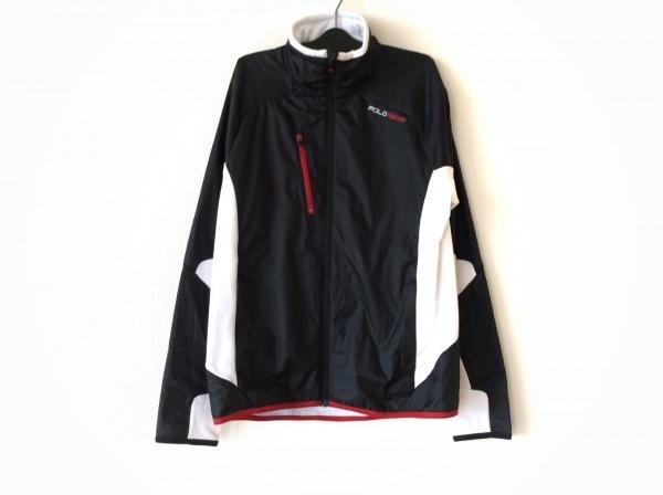 POLO SPORT(ポロスポーツ) ブルゾン サイズM レディース 黒×白 冬物