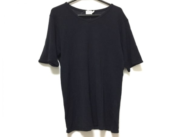 アルマーニコレッツォーニ 半袖セーター サイズL レディース ダークネイビー