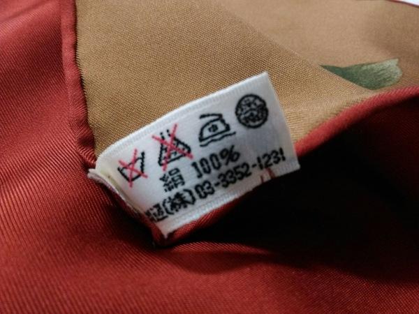 イヴサンローラン スカーフ美品  ブラウン×ボルドー×マルチ 花柄 3