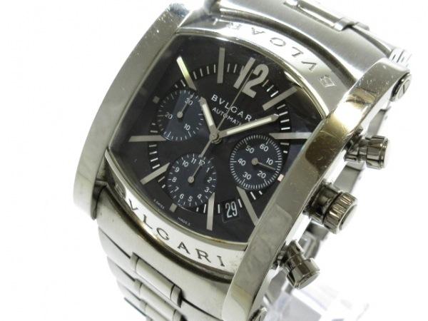 ブルガリ 腕時計 アショーマ AA48SCH/AA48C14SSDCH メンズ SS/クロノグラフ 黒