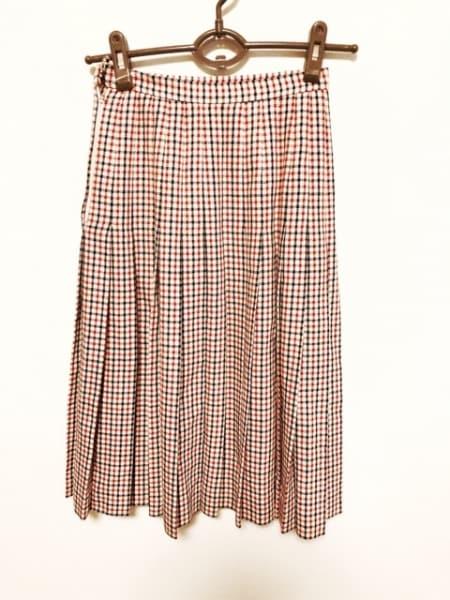ジバンシー スカート サイズ8 M レディース美品  アイボリー×黒×レッド チェック柄