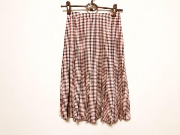 ジバンシー スカート サイズ6 M レディース美品  アイボリー×黒×レッド チェック柄