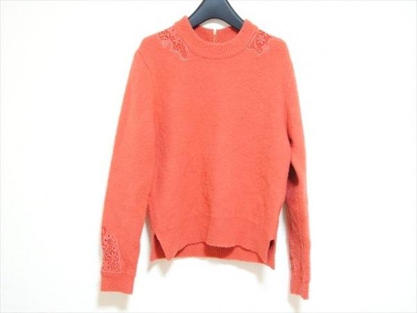 JUSGLITTY(ジャスグリッティー) 長袖セーター サイズ2 M レディース美品  オレンジ