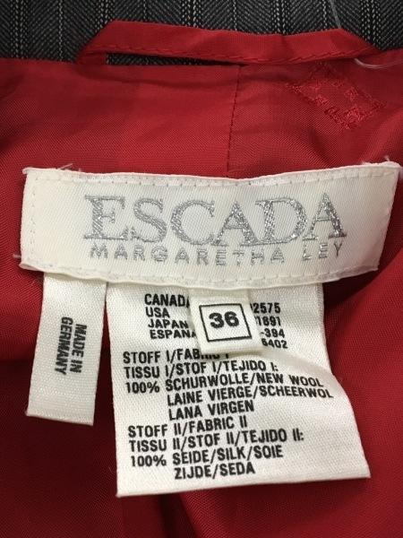 エスカーダ スカートスーツ サイズ36 M レディース美品  ダークグレー×マルチ