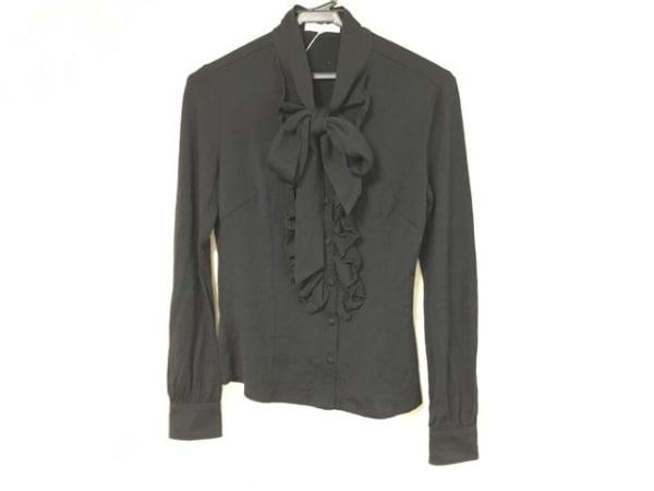 ナラカミーチェ 長袖カットソー サイズ1 S レディース美品  黒 リボン/フリル/ウール