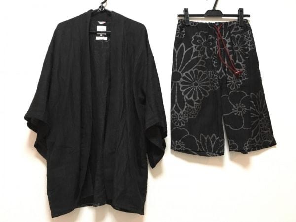 SOU・SOU(ソウソウ) メンズセットアップ サイズM メンズ 黒×グレー 花柄