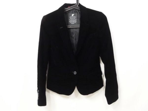 LOVELESS(ラブレス) ジャケット サイズ34 S レディース美品  黒 ベロア/肩パッド