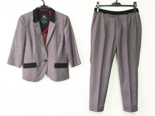 ラブレス レディースパンツスーツ サイズ36 S レディース グレー×黒 肩パッド
