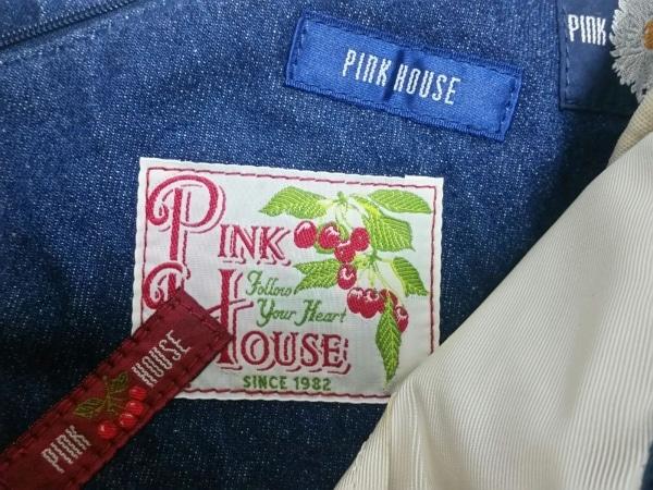 PINK HOUSE(ピンクハウス) トートバッグ美品  ネイビー デニム