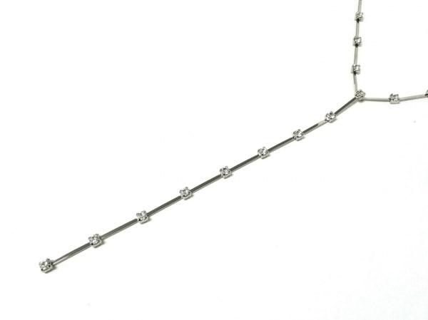 AGATHA(アガタ) ネックレス美品  金属素材×ラインストーン シルバー×クリア