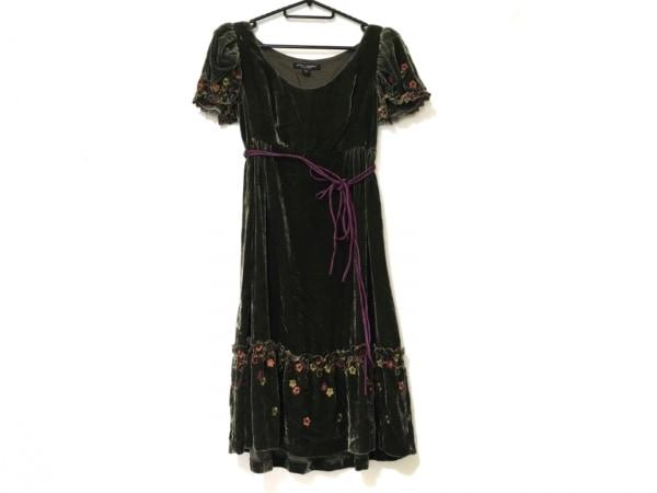 ベッツィージョンソン ワンピース サイズ2 S レディース美品  ベロア/刺繍/花柄
