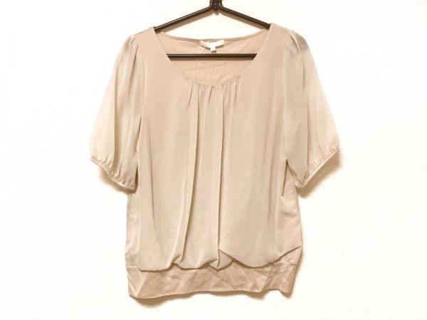 ANAYI(アナイ) 半袖カットソー サイズ38 M レディース美品  ベージュ 袖シースルー