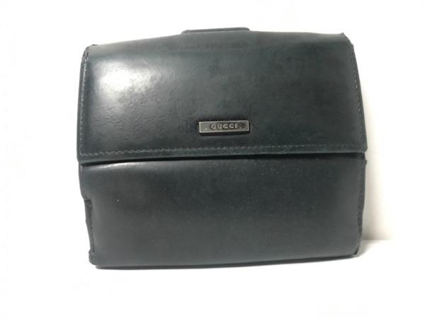 GUCCI(グッチ) Wホック財布 - 143387 黒 レザー