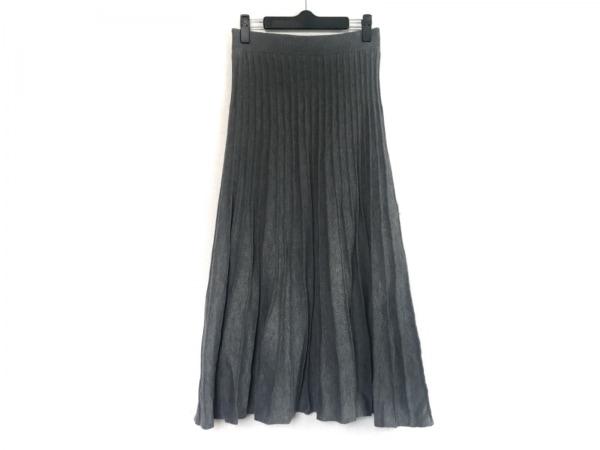 ミラオーウェン ロングスカート サイズ0 XS レディース グレー ニット/プリーツ