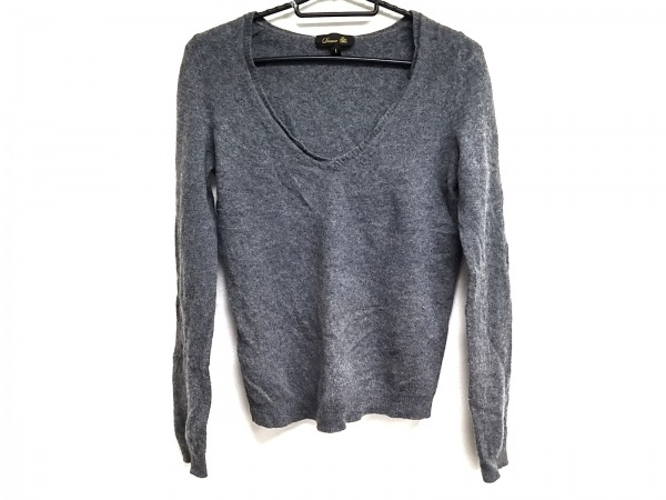 DRAWER.(ドロウアー) 長袖セーター サイズ1 S レディース美品  ダークグレー カシミヤ
