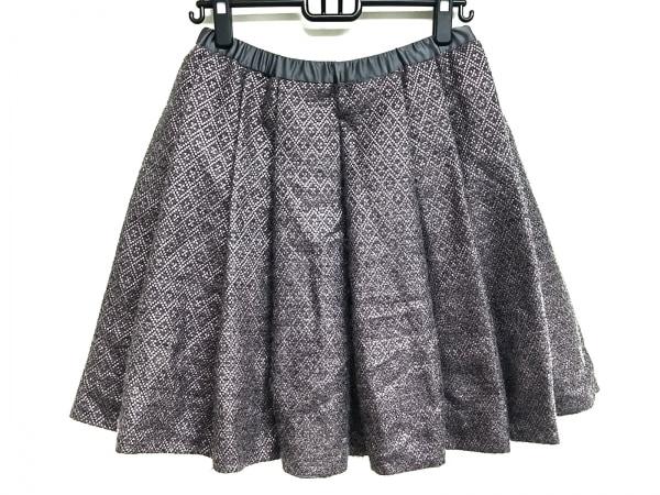 DRAWER.(ドロウアー) スカート サイズ36 S レディース美品  ダークグレー×ピンク