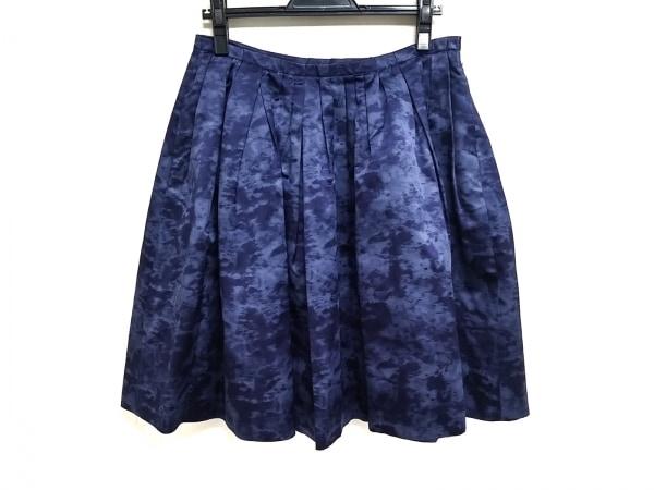 DRAWER.(ドロウアー) スカート サイズ40 M レディース ブルー×ネイビー シルク