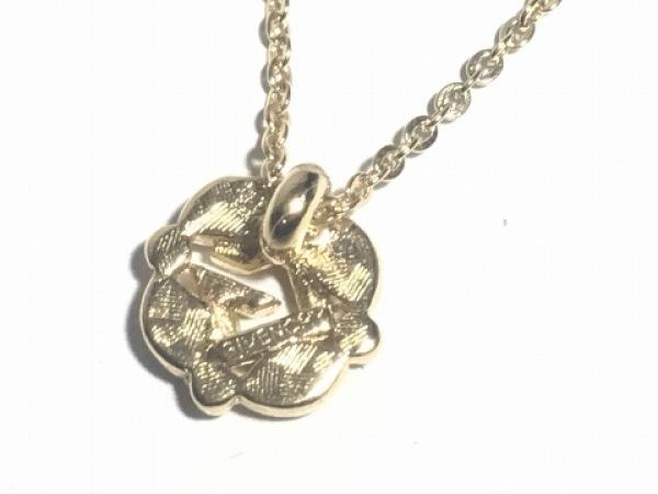 GIVENCHY(ジバンシー) ネックレス美品  金属素材×ラインストーン ゴールド×クリア
